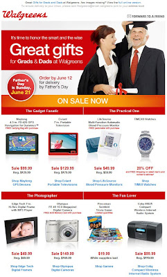 Click to view this June 3, 2009 Walgreens email full-sized