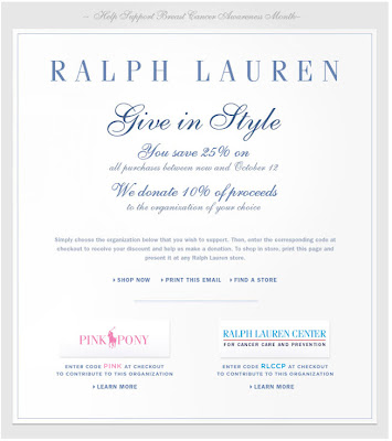 Click to view this Sept. 29, 2009 Ralph Lauren email full-sized