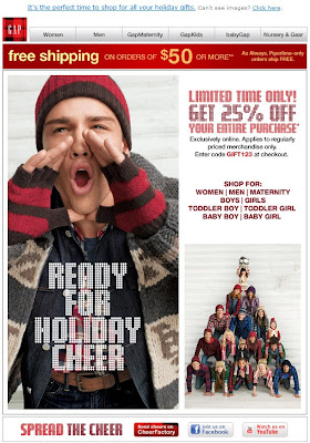 Click to view this Nov. 17, 2009 Gap email full-sized
