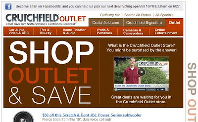 Click to view this June 23, 2010 Crutchfield email full-sized