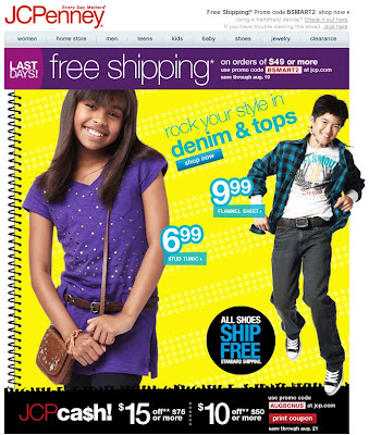 Click to view this Aug. 18, 2010 JCPenney email full-sized