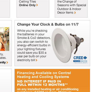 Click to view this Oct. 28, 2010 Home Depot email full-sized