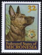 1996年ミクロネシア連邦 ジャーマン・シェパードの切手