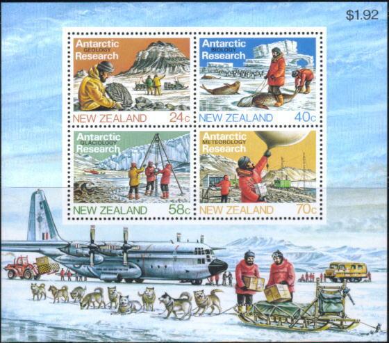 年度不明ニュージーランド 南極調査隊の切手