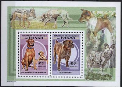 2006年ギニア共和国 ローデシアン・リッジバック ボーアボールの切手シート