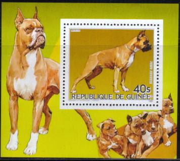 1985年ギニア共和国 ボクサーの切手シート