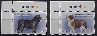 1999年ギニア共和国 ニューファンドランド セント・バーナードの切手