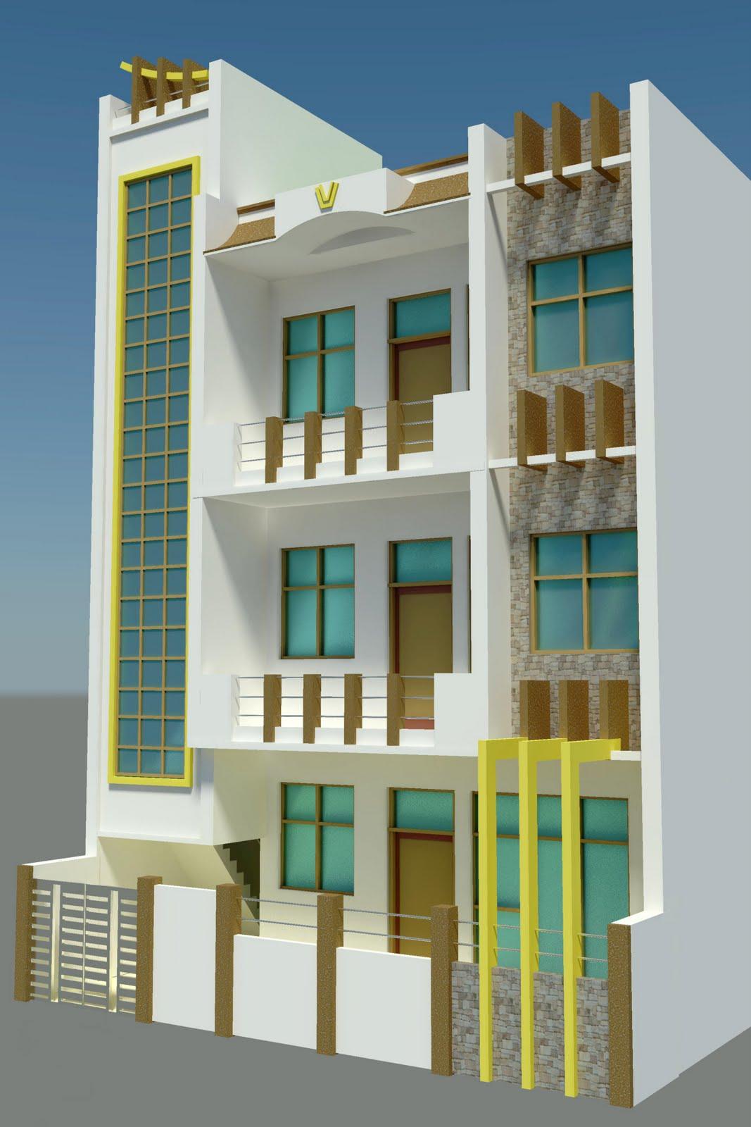 Front Elevation Designer In Jaipur : D designer freelancer gaziyabad front elevation