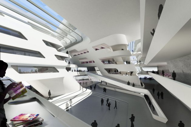 Library and Learning Centre in Vienna [by Zaha Hadid]