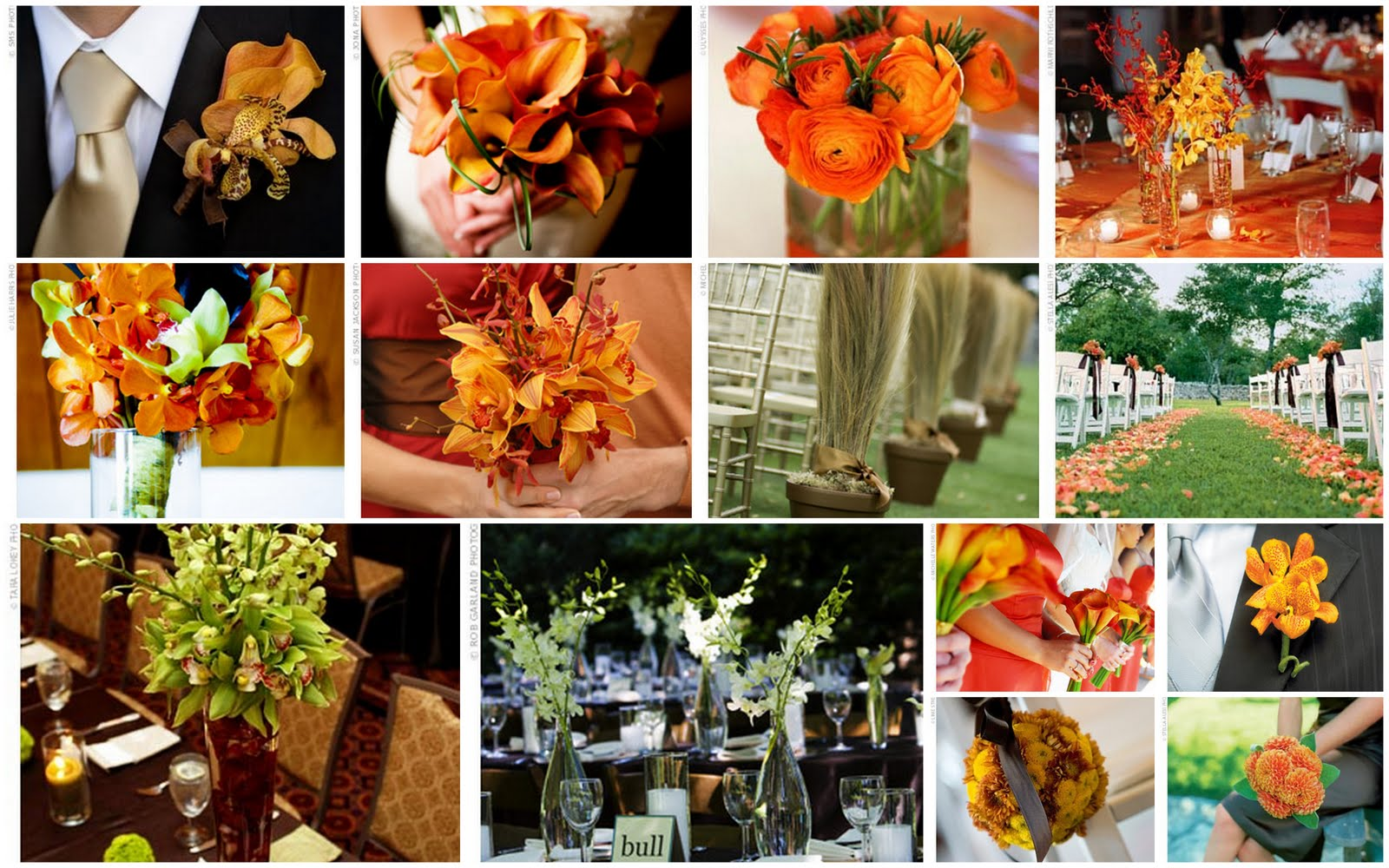 Wedding flowers wedding centerpiece flowers fall autumn for Autumn flower decoration