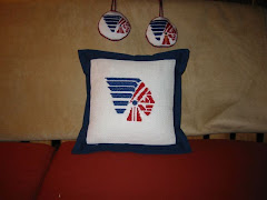 Pillow and ornaments made from a schools design.