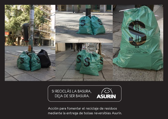 Acción en la via pública para Asurín.
