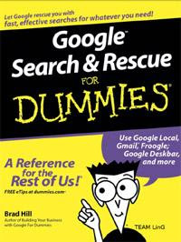 Download Free ebooks Google Search Rescue for Dummies
