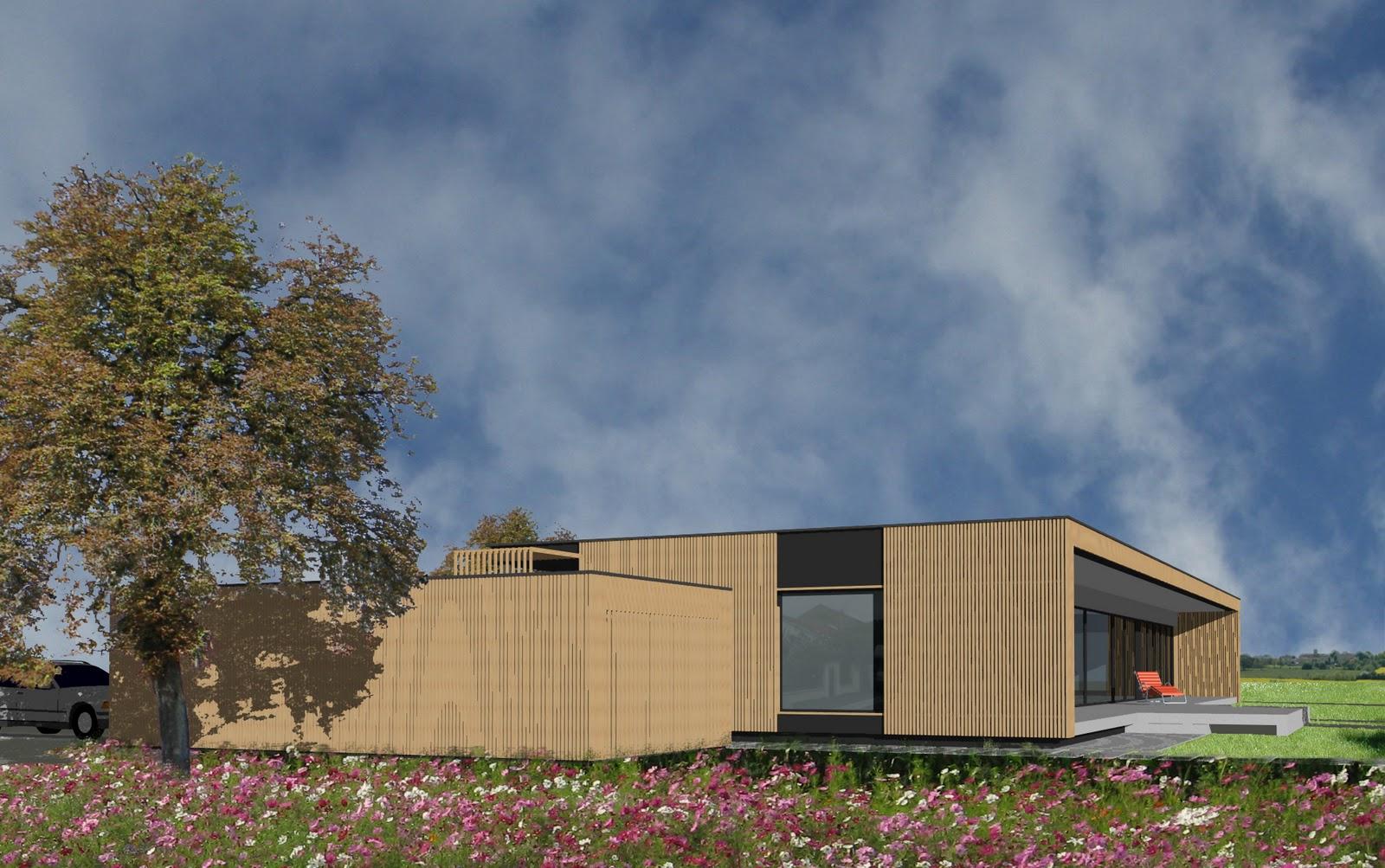 Architecte dplg albi for Prix m2 maison ossature bois contemporaine
