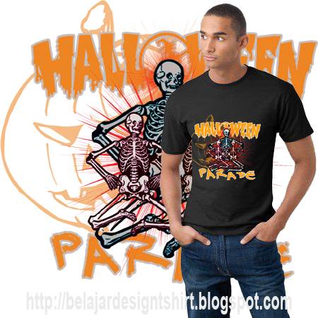 belajar design t-shirt | HALLOWEEN PARADE T-SHIRT DESIGN