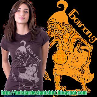 Belajar design t-shirt | Wayang Gareng t-shirt design