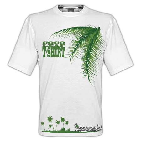 DOWNLOAD KOLEKSI PSD DESAIN KAOS: COCO LEAF T-SHIRT DESIGN