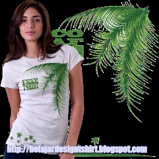 Belajar design t-shirt | Coco leaf t-shirt design
