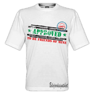 Belajar design t-shirt | Approved friends t-shirt design
