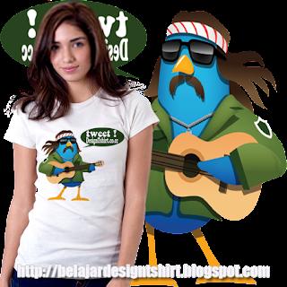 Belajar design t-shirt | Tweet me t-shirt design
