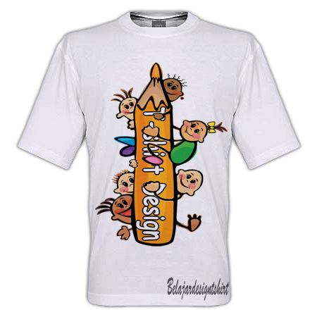 Belajar design t-shirt | Pencil of mine t-shirt