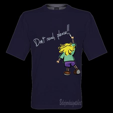 Belajar design t-shirt | Do not read t-shirt design