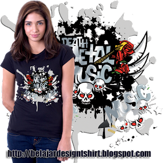 Belajar design t-shirt | METAL MUSIC GENRE T-SHIRT