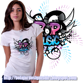 Belajar design t-shirt | POP MUSIC GENRE T-SHIRT