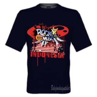 Belajar design t-shirt | ROCK MUSIC GENRE T-SHIRT