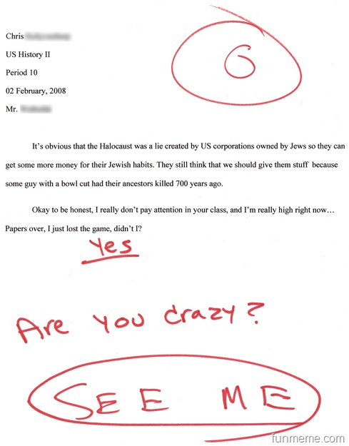Funny college papers