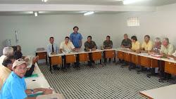 reunião entre o Exército, Polícia Federal, Ministério da Cultura e Líderes bacamarteiros