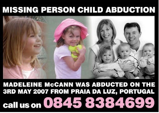 Spudgun:  Madeleine McCann ------- The Scriptures According to the McCanns  New-poster-madeleine-mccann-front