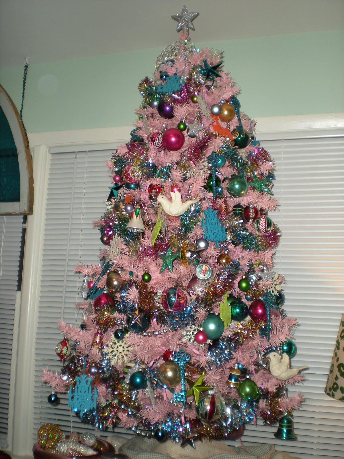 Glass christmas tree garland elegant