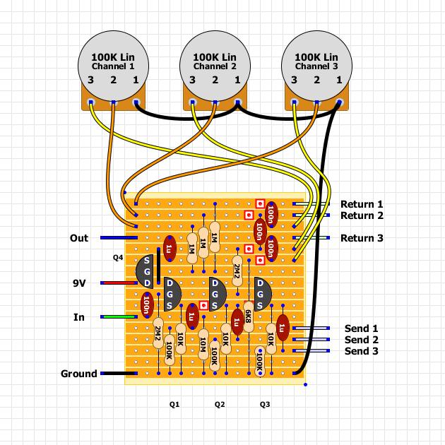 Guitar FX Layouts: JFET Parallel LooperGuitar FX Layouts - blogger