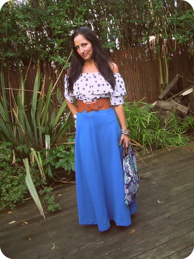 1970 s frilly blouse salvation army vintage maxi skirt courtesy of