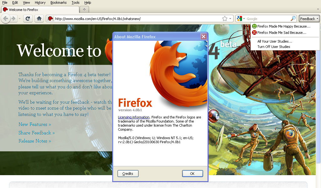 Mozilla Released Firefox 4 Beta 1 now Available for ...