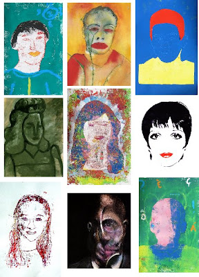 Students' works and works by famous artists