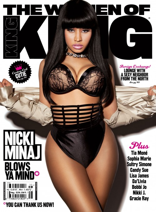 NICKI MINAJ ON THE COVER OF KING MAGAZINE!