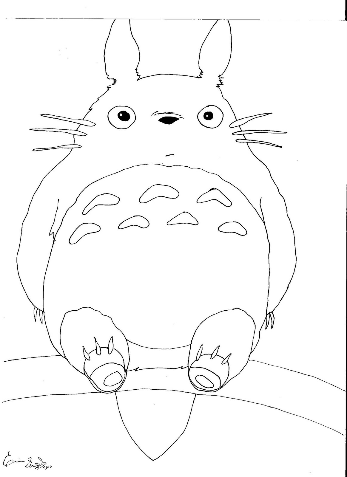 displaying 18u0026gt images for totoro coloring page - Neighbor Totoro Coloring Pages
