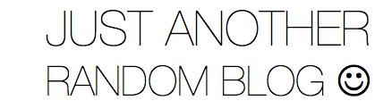just another random blog