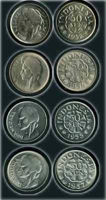 Uang Koin 50 Sen 1952-1954-1957