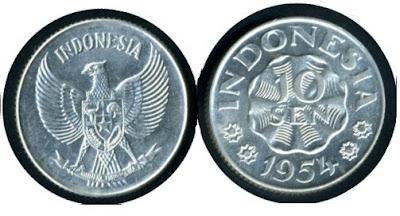 Uang Koin 10 Sen 1954