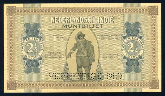 Versi proof pada pecahan 2,5 gulden 1940
