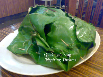 kepiting asap, kepiting asap banana leaf