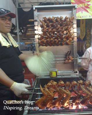 raya, singapore, geylang serai, bbq chicken wing