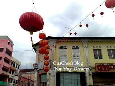 muar town, old building, lantern