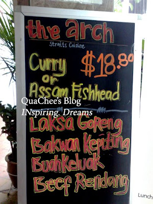 the arch peranakan restauarnt menu