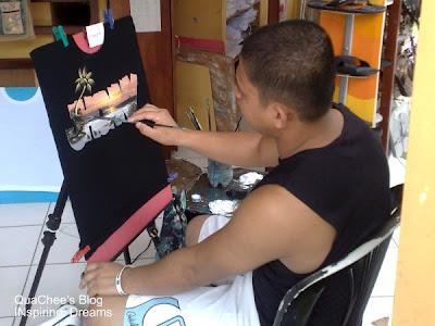 boracay hand painted tshirt