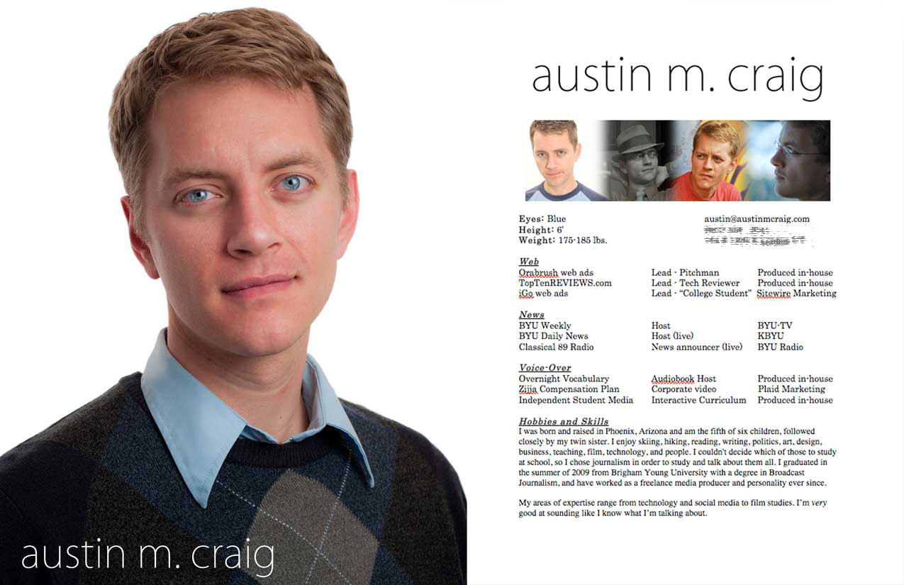 headshots and resume