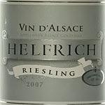 Helfrich Vin d'Alsace Riesling 2007